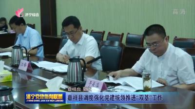 """嘉祥县调度强化党建统领推进""""双基""""网上投注彩票APP"""