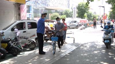 倡導單車有序停放  攜手共建文明城市