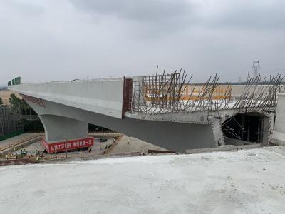 历时70分钟!山东省最大T型钢构转体桥成功转体