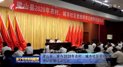 梁山县:举办2020年农村、城市社区党组织书记视频培训会议