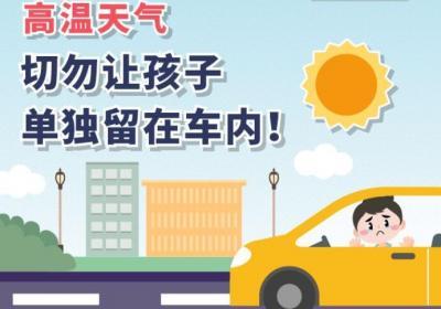 圖個明白 高溫天氣,切勿讓孩子單獨留在車內!