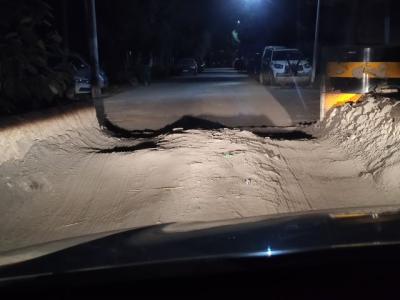 乡村道路通行受阻 村民问政求助 部门:已整改