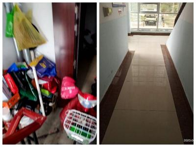 楼道内堆放杂物、堵塞占用消防通道 部门:已清理完毕