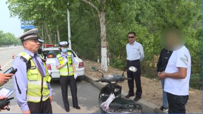 邹城男子酒后骑摩托被查还不认账 按酒驾进行处罚