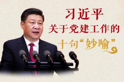 """習近平關于黨建工作的十句""""妙喻"""""""