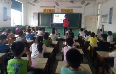 微山:志愿服务在行动 防溺水安全教育进校园