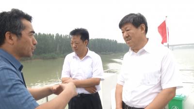 张胜明副市长带队督导安全生产防汛抗旱工作