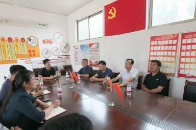 濟寧市老體協辦公室與王莊村開展黨支部聯建活動