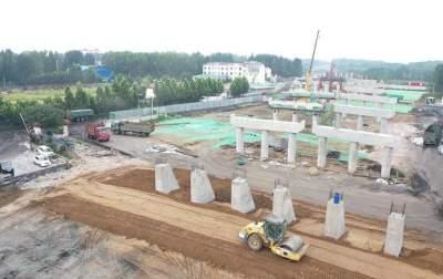 康驿互通立交工程施工过半 G327改建全线预计明年底完工