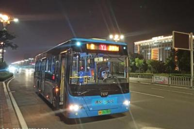 嘉祥開通夜間公交Y1線路 沿途停靠15站