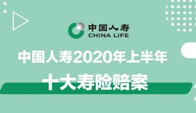 最新!中国人寿上半年十大寿险赔案
