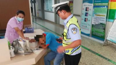 司機突發疾病 兗州交警緊急送醫