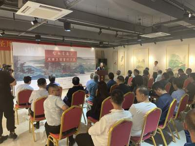 周传玉邹连忠书画作品展在华梦艺术馆开幕