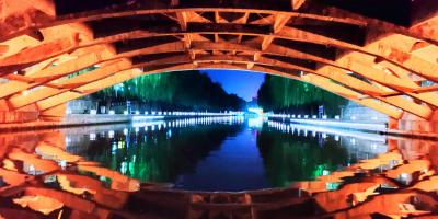 济宁人夜游打卡地!璀璨灯光 点亮老运河两岸