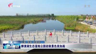 魚臺柳清湖生態濕地公園初秋景色美如畫