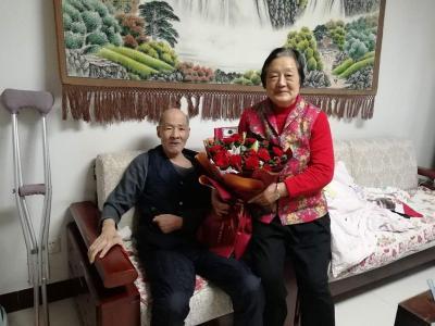 重阳佳节送祝福 金乡县退役军人事务局探望军休老干部