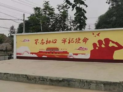 王丕街道党建一条街全覆盖 绘制党建彩绘1000余平方米