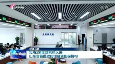 31599com3家金融机构入选省首批政府性融资担保机构
