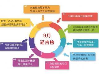济宁9月谣言榜发布 盘点那些不能轻信的传言
