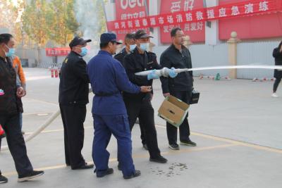泗水县应急管理局组织消防应急救援演练