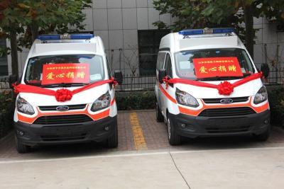 汶上愛心企業捐贈15輛救護車助力秋冬疫情防控