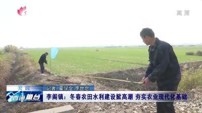 魚臺李閣鎮:冬春農田水利建設掀高潮 夯實農業現代化基礎