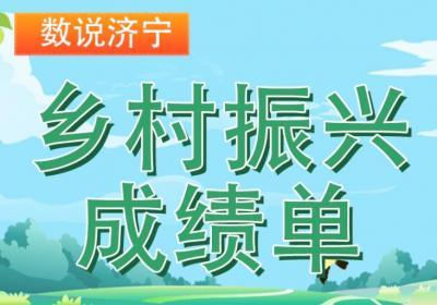 数说济宁 | 乡村振兴成绩单