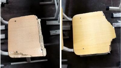 济宁学院附属中学学生座椅破旧不堪(附图)部门:及时整改