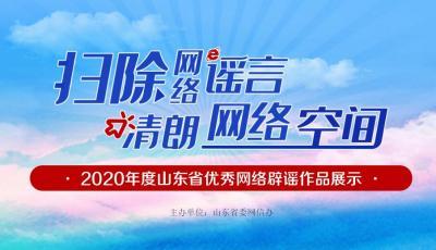 2020年度山東省優秀網絡辟謠作品展示