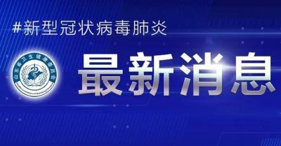 2021年1月13日0时至24时山东省新型冠状病毒肺炎疫情情况
