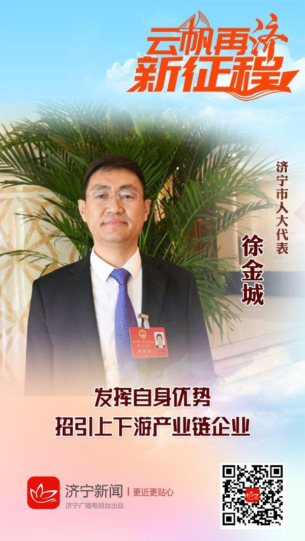 徐金城:发挥自身优势 招引上下游产业链企业