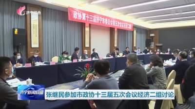 張繼民參加市政協十三屆五次會議經濟二組討論