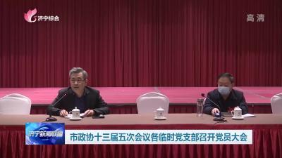 市政协十三届五次会议各临时党支部召开党员大会