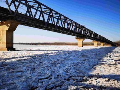 黃河梁山段凌情發展迅速,3座浮橋緊急拆除中