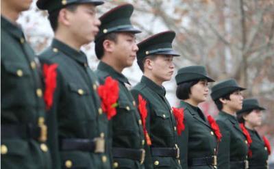 魚臺陽光安置轉業士官 34名退役士兵上崗入編