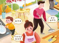 疫情防控知识宣传海报:全家老小齐上阵 做好防护乐新春