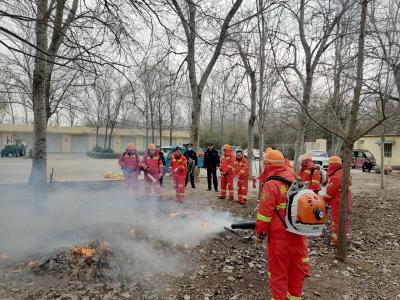 金鄉公安開展森林防火滅火檢查和演練