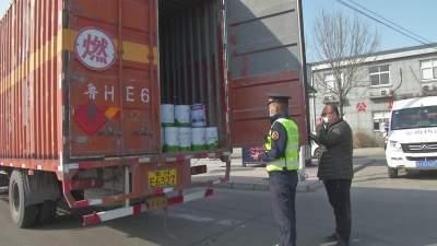 北湖交警大队开展重点运输车辆安全检查