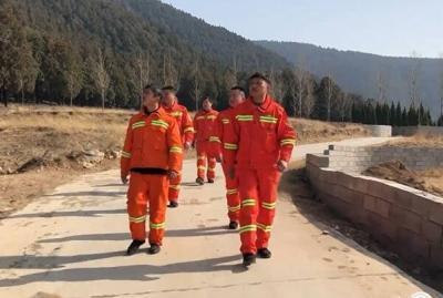 春节我在岗丨微山森林消防员坚守岗位守护群众平安