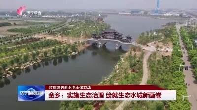 河畅水清岸绿景美 金乡绘就生态水城新画卷