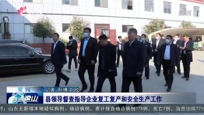 梁山县领导督查指导企业复工复产和安全生产工作