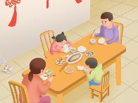 疫情防控知识宣传海报:公筷分餐保安全