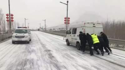 """雨雪来袭,济宁最美""""雪警""""上线"""