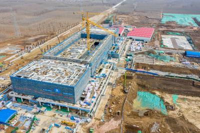 """鲁南高铁济宁北站项目按下复工复产""""快进键"""" ,年底将投入使用"""