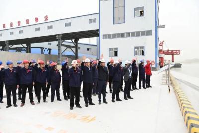 梁山港開啟試運營 首批船隊已啟航離港