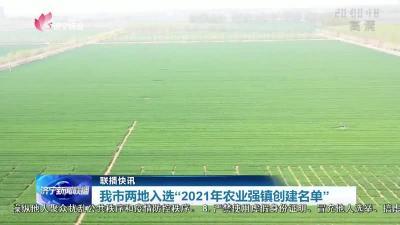 """濟寧兩地入選""""2021年農業強鎮創建名單"""""""