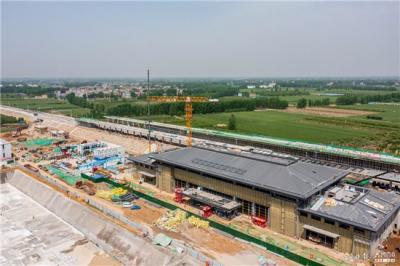 嘉祥北站进入装饰装修阶段,预计6月底具备竣工验收条件
