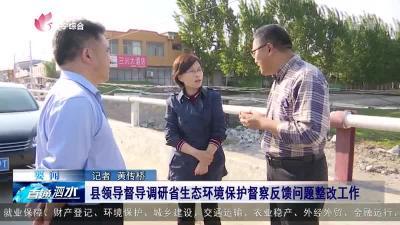 泗水县领导督导调研省生态环境保护督察反馈问题整改工作