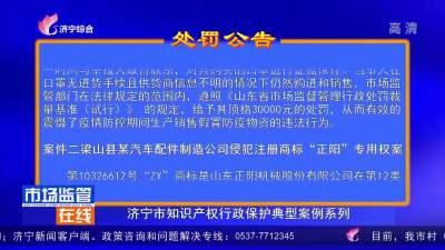 济宁市知识产权行政保护典型案例系列
