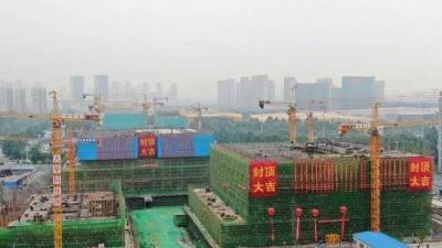这就是山东·济宁 | 提前近俩月,济宁太白湖新城大学科技园B、C栋主体结构封顶